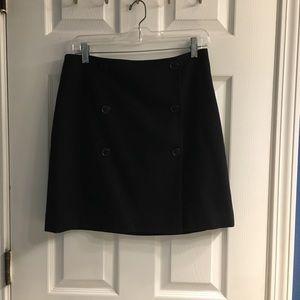 Ann Taylor Black Wool Skirt